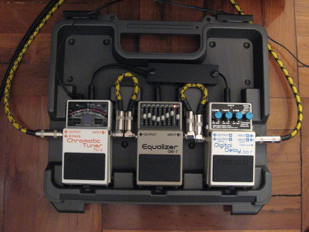 The Evolution Of A Pedal Board Pedalboard Wiring Diagram At This Point For Quick Practice These Two Boxes Were Bit Pain To Set Up And More I Was Preferring Put Effect In Front